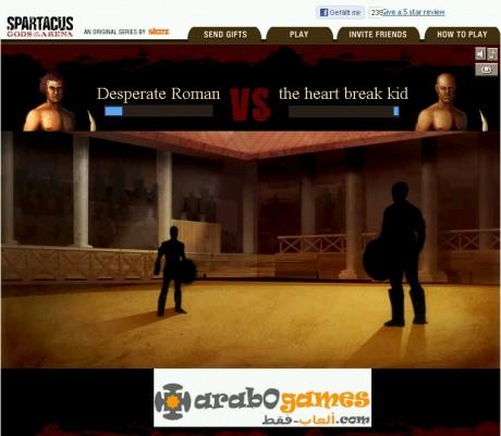 لعبة سبارتاكوس العاب فيس بوك / Facebook Spartacus tv